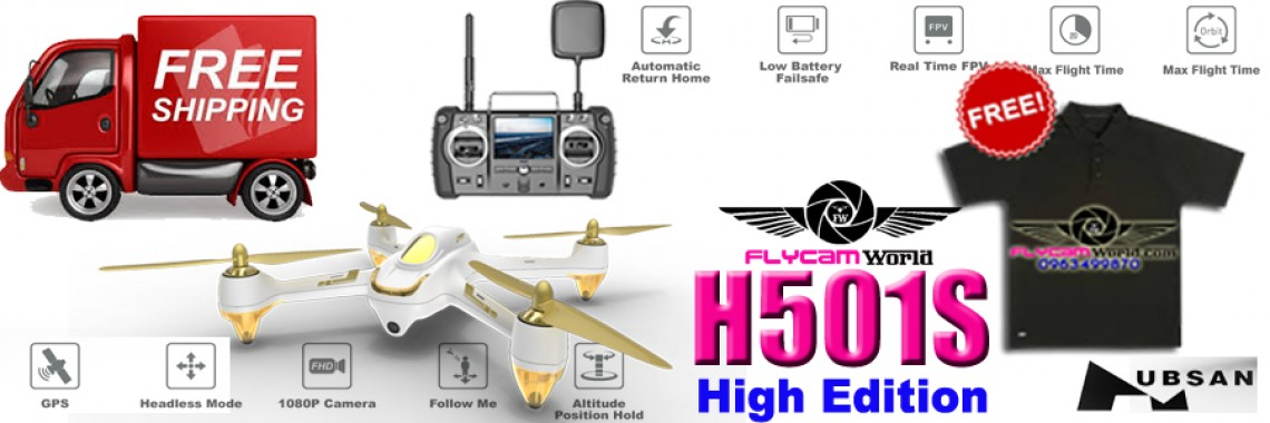Hubsan H501S High Edition 1080P HD Camera GPS RC White
